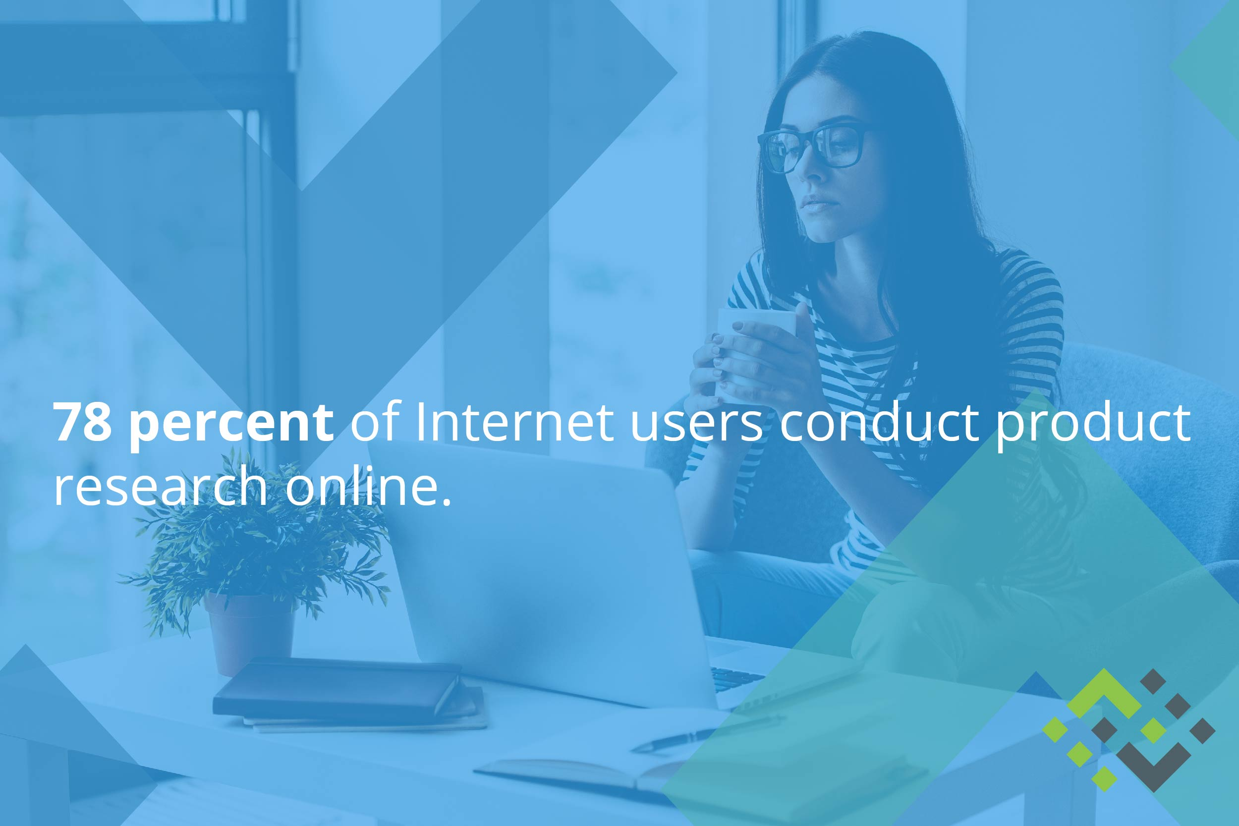 78 percent of internet users conduct product research online.