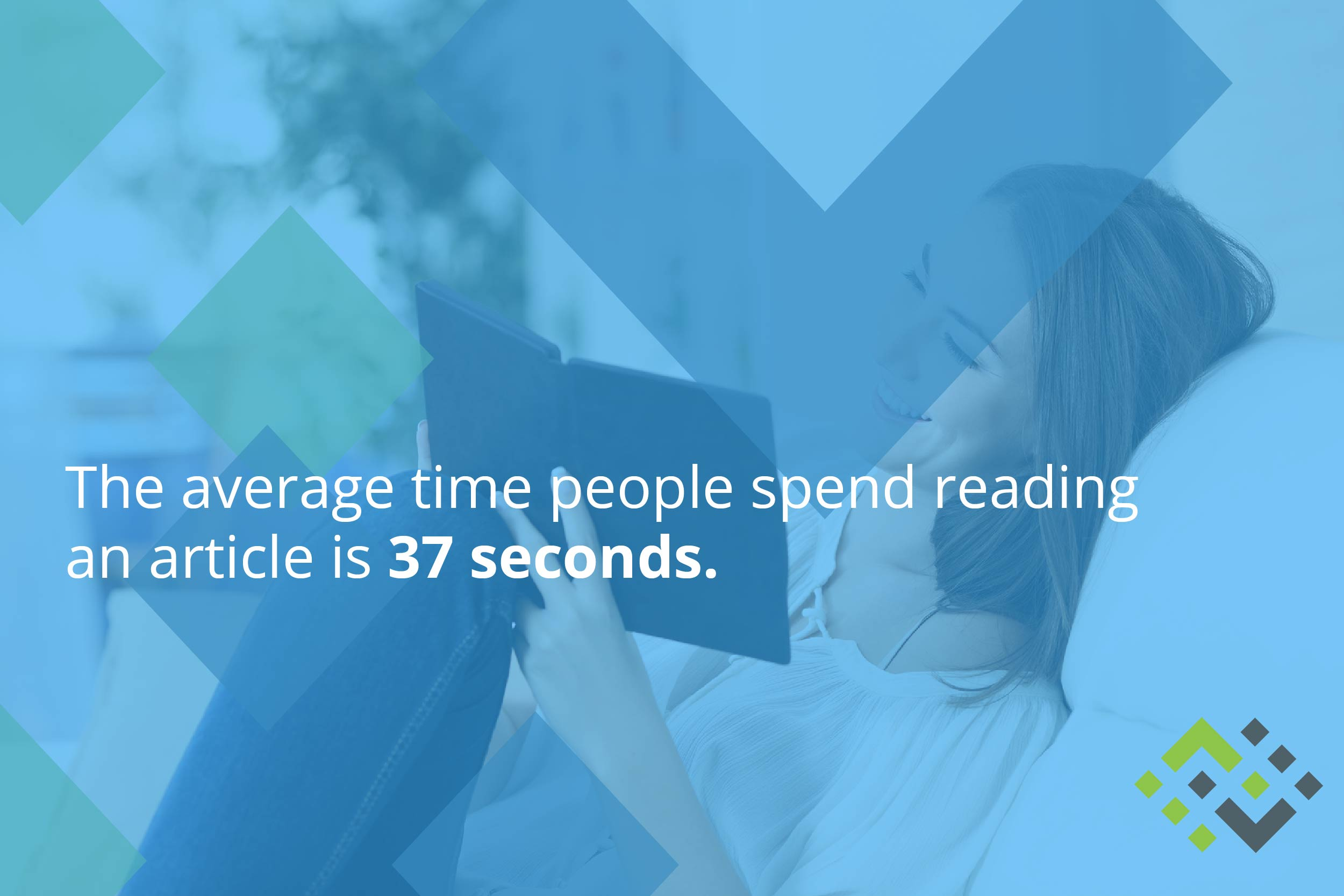 The average time people spend reading an article is 37 seconds